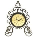 Metal Swirl Table Clock with Crown