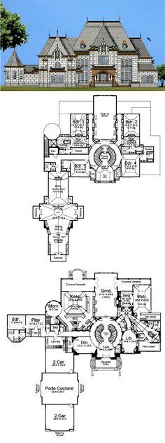 House Plan 72133 | European Plan with 13616 Sq. Ft., 6 Bedrooms, 8 Bathrooms, 4 Car Garage