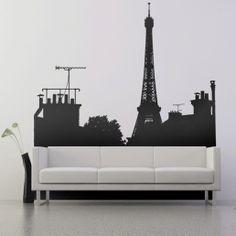 Skyline de #paris para as paredes