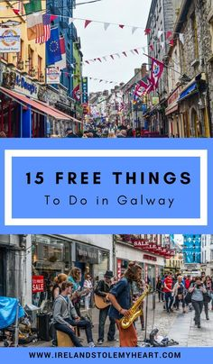 15 Awesome Free Things to do in Galway - Ireland Stole My Heart <br> Galway is one of the best cities to visit in Ireland. It's best known for it's live music and pubs, but there is lots to see and do. Here are 15 free things to do in Galway, Ireland. Backpacking Ireland, Ireland Travel Guide, Traveling To Ireland, Travelling Europe, Travel Europe, New Travel, Travel Goals, Paris Travel, Travel List