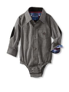 61% OFF Andy & Evan Baby Any Given Chambray Shirtzie (Charcoal/Black)