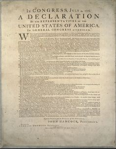 Declaration of Independence of the USA set in Original Caslon