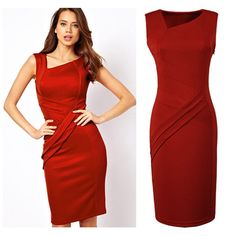 Find More Dresses Information about 2014 summer dresses saia de festa womens bodycon pencil dresses elegant   black and Red dressning dresses,High Quality dresse,China dress med Suppliers, Cheap dress jeans from Global Trade Direct Ltd. on Aliexpress.com