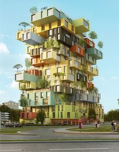 Image courtesy of MVRDV Architects Folie Richter by MVRDV Architects Since the Century, the follies of Montpellier have been markers for the architectural history of the city. Architecture Design, Futuristic Architecture, Beautiful Architecture, Computer Architecture, Architecture Portfolio, Unusual Buildings, Amazing Buildings, Modern Buildings, World Trade Center