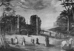 heiloo; Maria-verschijning tussen de muren van onze lieve vrouwe ter nood ongeveer 1700;