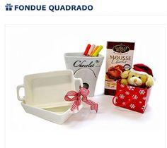 Kit para fondue de natal