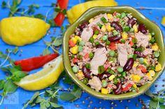 Paste cu ton - CAIETUL CU RETETE Tuna Recipes, Healthy Salad Recipes, Romanian Food, Cobb Salad, Acai Bowl, Potato Salad, Grains, Gluten, Breakfast