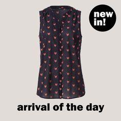 Ärmellose Bluse mit modernem Fuchs-Print von zero! #zerofashion