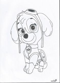 coloring pages paw patrol | Paw Patrol Sky Coloring Page Paw patrol skye by