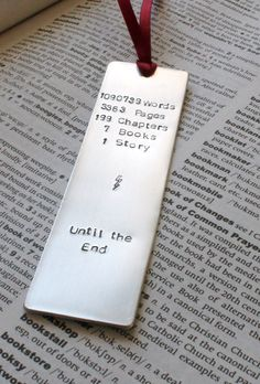 Metal Stamped Personalised Bookmark - Harry Potter Book Lover