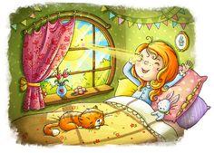 """The Morning of Dunyasha"" Illustration by Irina Smirnova Illustrator from St…"