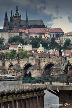 Prague, Capital of Czech Republic. Castle above Vltava's left bank. Capital of Czechoslovakia till Places Around The World, Oh The Places You'll Go, Travel Around The World, Places To Travel, Travel Destinations, Places To Visit, Around The Worlds, Holiday Destinations, Prague Czech Republic