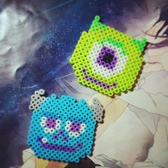 Mike and Sulley Monsters Inc perler beads by afaxiong