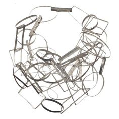"""Biba Schutz: , Necklace in sterling silver. 34"""" in length. May be worn long or doubled."""