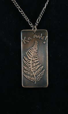 Pendant, etched copper, tribute to Maori Haka 001 by crquack on Etsy
