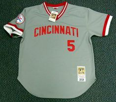 Johnny Bench Autographed Mitchell & Ness Cincinnati Reds Gray Jersey 76 WS Champs PSA/DNA . $299.00. This is a Cincinnati Reds Mitchell & Ness Jersey that has been hand signed by Johnny Bench. Johnny signed this one, 76 WS Champs. The autograph has been authenticated by PSA/DNA. It comes with their sticker and matching certificate.
