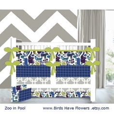 baby boy bedding in Modern ZOO in 2D POOL more prints to choose from