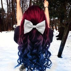blue, red hair
