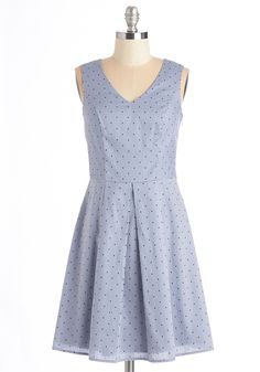 Pleased as Brunch Dress. Settle into a booth for your weekly girls brunch in this delightful denim-blue dress. #blue #modcloth
