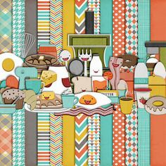 Harper Finch: New Free Kit -Rise and Shine* breakfast food