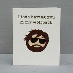 The Hangover Wolfpack Romantic Card. $3.75, via Etsy.