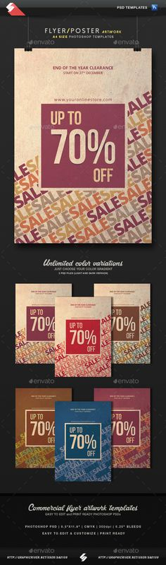 Sale Off - Discount Flyer Template A4 PSD #design Download: http://graphicriver.net/item/sale-off-discount-flyer-template-a4/13412765?ref=ksioks