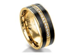 Check out this Furrer Jacot Men's Band in Two-Tone with Diamond Accents!!