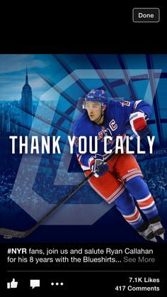 Ryan Callahan Ryan Callahan, New York Rangers, My Boys, Nhl, Letting Go, Reebok, Hockey, Sports, Hs Sports