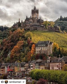 Beautiful Places Discover The castle on the hill Cochem Germany More memes funny videos and pics on Places Around The World, The Places Youll Go, Places To See, Around The Worlds, Beautiful Castles, Beautiful Places, Wonderful Places, Dream Vacations, Vacation Spots