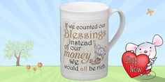 Get our best selling Little Church Mouse mug now in bone china!