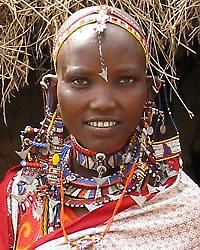 Maasai beadwork- I have one of these necklaces from a Maasai women!