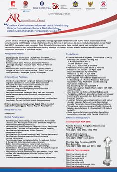 Annual Report Award (ARA) 2015 | Kementerian BUMN