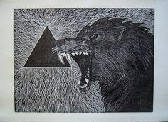 #xilography #wolf [Nácar Xilografías]