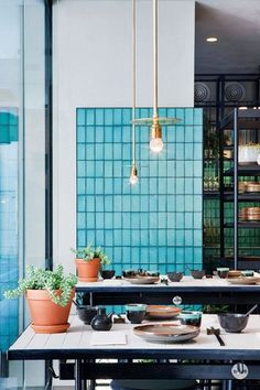 Hutong group opens East restaurant in Melbourne - Vogue Living East Restaurant, Restaurant Design, Cafe Gold, Hecker Guthrie, Coloured Grout, Café Bar, Hospitality Design, Cafe Interior, Cool Ideas