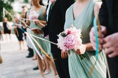 Blush Bridesmaid Bouquets, Photo by T & S Hughes