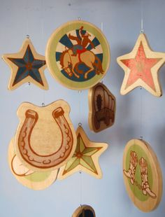 Baby Mobile - Vintage Western Theme - Horse - Cowboy Hat - Cowboy Boots