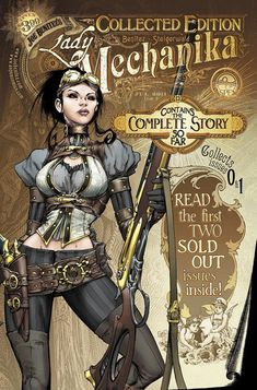 "Lady Mechanika is the newest creator-owned comic book series by American comic book artist Joe Benitez, inspired by the steampunk genre. ""Steampunk"" is Steampunk Kunst, Steampunk Book, Steampunk Artwork, Victorian Steampunk, Steampunk Fashion, Steampunk Cosplay, Steampunk Necklace, Lady Mechanika, Comic Book Artists"