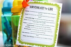 Survival Kit for Life: An End of the Year Gift for Students