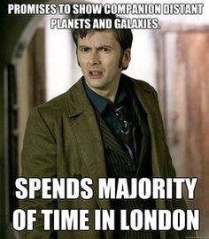 Doctor Who humor. Lol noticed this, too much to pay people to do other accents?