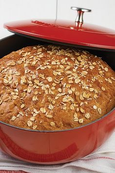 No-Knead Oat Bread Recipe Plan ahead for this easy bread; an overnight or all-day rise gives it terrific flavor. No-Knead Oat Bread Recipe Plan ahead for this easy bread; an overnight or all-day rise gives it terrific flavor. Dutch Oven Bread, Dutch Oven Recipes, Cooking Recipes, Chef Recipes, Soup Recipes, Oat Bread Recipe, Oat Flour Recipes, Overnight Bread Recipe, Oatmeal Bread