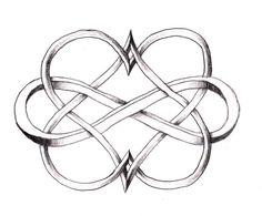 Resultado de imagen para tatuaje corazon infinito
