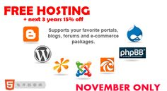 November Hosting Offer