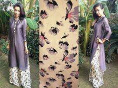 Love this look! Heena-AYUB-Silk-kurta-with-printed-palazzo-pants