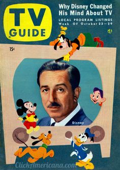 Walt Disney TV shows in the 1950 | Walt Disney's Disneyland, the TV show (1954)