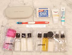 Packing toiletries for travel