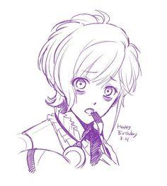 Diabolik Lovers (More Blood)- Kanato Cute Anime Boy, Anime Love, Anime Guys, Lovers Pics, Lovers Art, Digimon, Vampires, Anime Manga, Anime Art