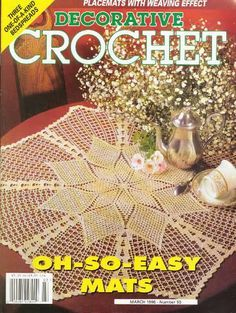 Decorative Crochet Magazines 34 - Cenira Ávila - Álbuns da web do Picasa...FREE BOOK,DIAGRAMS,AND PATTERN INSTRUCTIONS!!