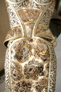Beading and Embroidery Example Maison Lesage for Atelier Versace Spring Summer 2012.