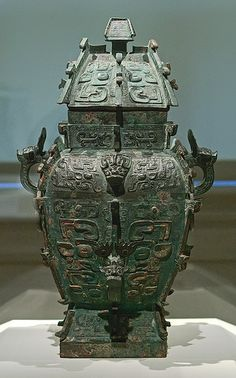 *BRONZE WINE VESSEL:   Chinese, Western Zhou dynasty, late 11th century B.C., at the Saint Louis Art Museum, in Saint Louis, Missouri, USA by msabeln, via Flickr