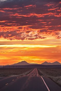 Beautiful Roads, Beautiful Landscapes, Beautiful Places, Sunset Road, Blowin' In The Wind, Road Photography, Desert Dream, The Mountains Are Calling, Sunset Pictures